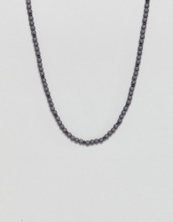 Icon Brand grey beaded necklace - Grey