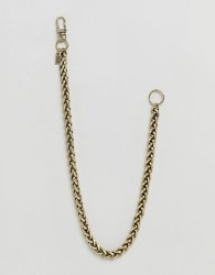 Icon Brand Jean Chain In Burnished Gold - Silver