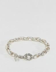 Icon Brand Link Bracelet In Silver - Silver