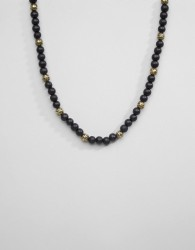 Icon Brand Multi Beaded Necklace - Black