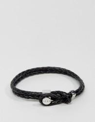 Icon Brand Premium Woven Bracelet In Black - Black