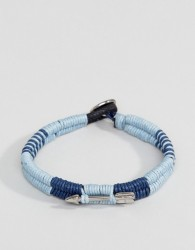 Icon Brand Wrapped Cord Bracelet In Navy - Navy