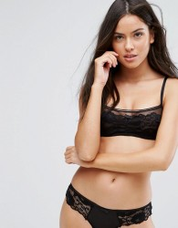 Icone Bianca Underwired Bralette B-E Cup - Black