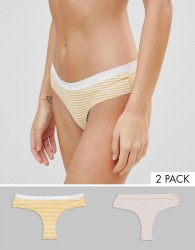 Icone Etoile 2 Pack Knickers - Pink