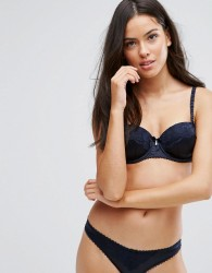 Icone Rose Satin Bra B-D Cup - Grey