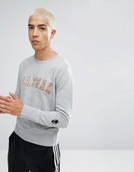 Illegal Club Sweatshirt In Grey With Logo - Grey