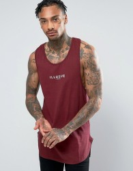 Illusive London Longline Vest In Red - Red
