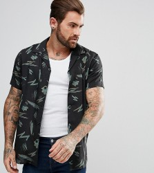 Illusive London Muscle Shirt In Black With Retro Print - Black