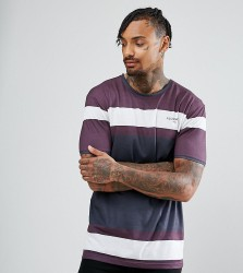 Illusive London Muscle T-Shirt In Burgundy With Logo - Red