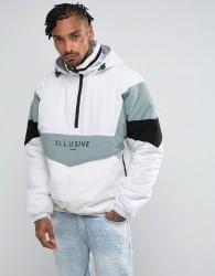 Illusive London Overhead Puffer Jacket In White - White