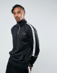 Illusive London Overhead Track Jacket In Black With Taping - Black