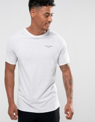 Illusive London Poly T-Shirt In Grey With Piping - White