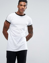 Illusive London T-Shirt In White With Taping - White