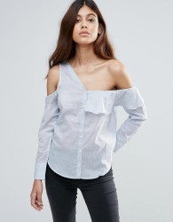 Influence Asymmetric One Shoulder Top - Blue