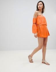 Influence Co-Ord Beach Shorts - Orange