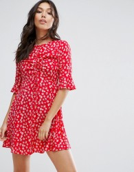 Influence Floral Dress - Red