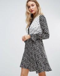 Influence Mix And Match Print Shirt Dress - Multi