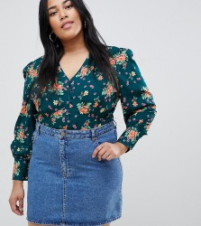 Influence Plus floral blouse - Green