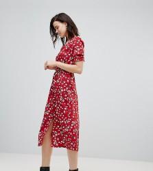 Influence Tall Floral Midi Dress - Red