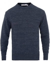Inis Meáin Donegal Crew Neck Sweater Dark Blue
