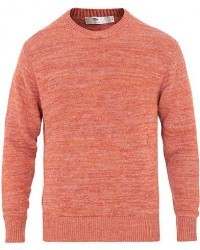 Inis Meáin Donegal Crew Neck Sweater Red Melange