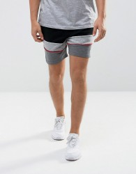Intense Skinny Shorts In Black With Contrast Panels - Black
