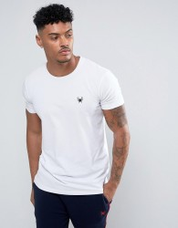 Intense T-Shirt In White Muscle Fit With Logo - White