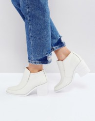 Intentionally Blank Henry White Ankle Boots - White