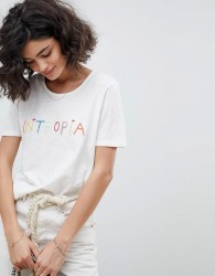 Intropia Embroidered T-Shirt - White
