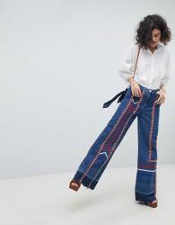 Intropia Ribbon Tape 70s Jeans - Blue