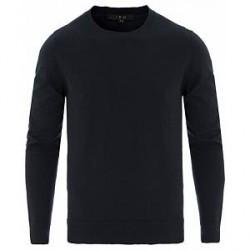 IRO Avrig Slight Distressed Cotton/Cashmere Pullover Navy
