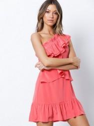IRO Brooka Dress Loose fit dresses Coral Pink