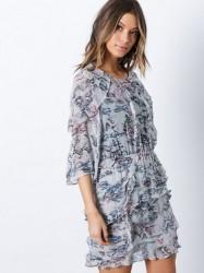 IRO Reorie Dress Loose fit dresses Light Grey