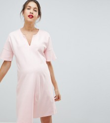 Isabella Oliver Shift Dress With Fluted Sleeves - Pink