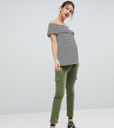 Isabella Oliver Stretch Cargo Trousers - Green