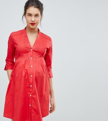 Isabella Oliver Tunic Shirt Dress With Tie Back - Red