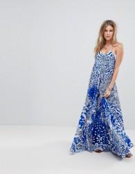 Island Stories Cami Maxi Beach Dress - Blue