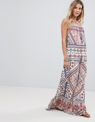 Island Stories Maxi Beach Dress - Multi