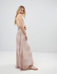 Island Stories Stripe Print Maxi Beach Dress - Pink