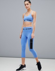 Ivy Park Active Seamless Knitted Capri Legging In Blue - Blue