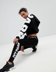 Ivy Park Logo Leggings In Black - Black