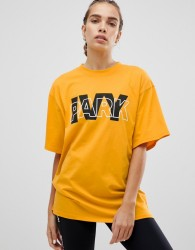 Ivy Park Logo Oversized T-Shirt In Yellow - Yellow