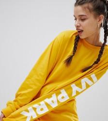 Ivy Park Long Sleeve T-Shirt In Yellow - Orange