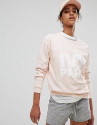 Ivy Park Peached Sweatshirt In Pink - Pink