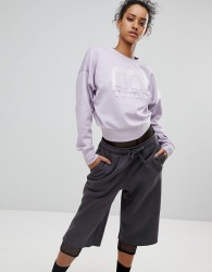 Ivy Park Sweatshirt With Embossed Logo In Lilac - Pink