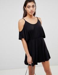 Ivyrevel Cold Shoulder Jersey Playsuit - Black