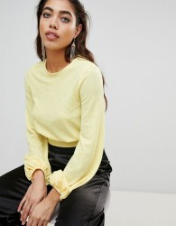 Ivyrevel Cropped Top with Tie Back - Yellow