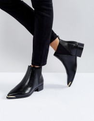 Ivyrevel Flat Pointed Ankle Boot With Metal Trim - Black