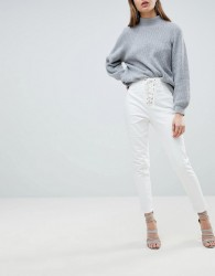 Ivyrevel Jean with Lace Up Front - White