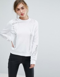 Ivyrevel Jumper With Embellishment And Rib Detail - White